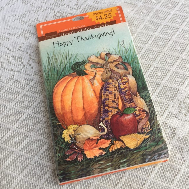 Vintage thanksgiving cards and envelopes vintage greeting etsy image 0 m4hsunfo