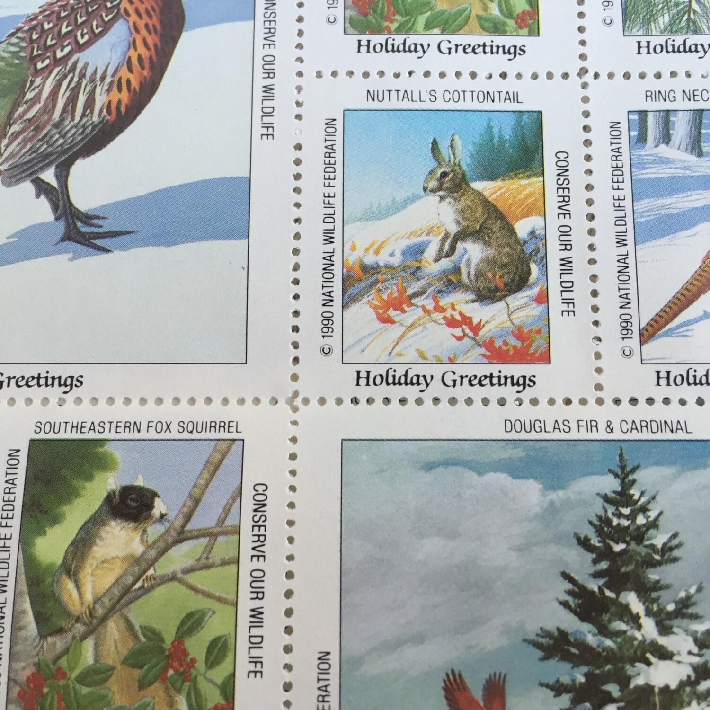 Vintage National Wildlife Federation Decorative Christmas   Etsy