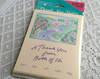 Thank You Cards From Both of Us Vintage American Greeting Cards NIB Wedding Thank You Cards