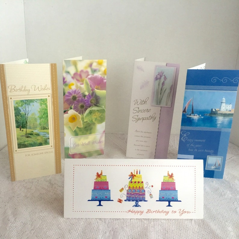 Vintage Greeting Cards And Envelopes Birthday Get
