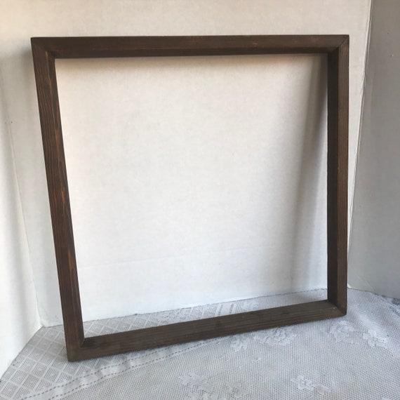Vintage Wood Picture Frames 15 X 15 Square Wooden Frames Etsy