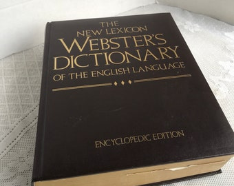 The New Lexicon Webster's Dictionary of the English Language /  Vintage Hardcover Book / Copyright 1988