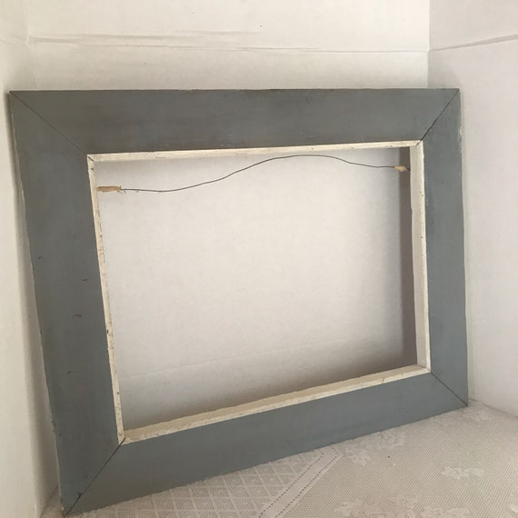 Wood Picture Frame Vintage 12 X 16 Inch Blue And White Etsy