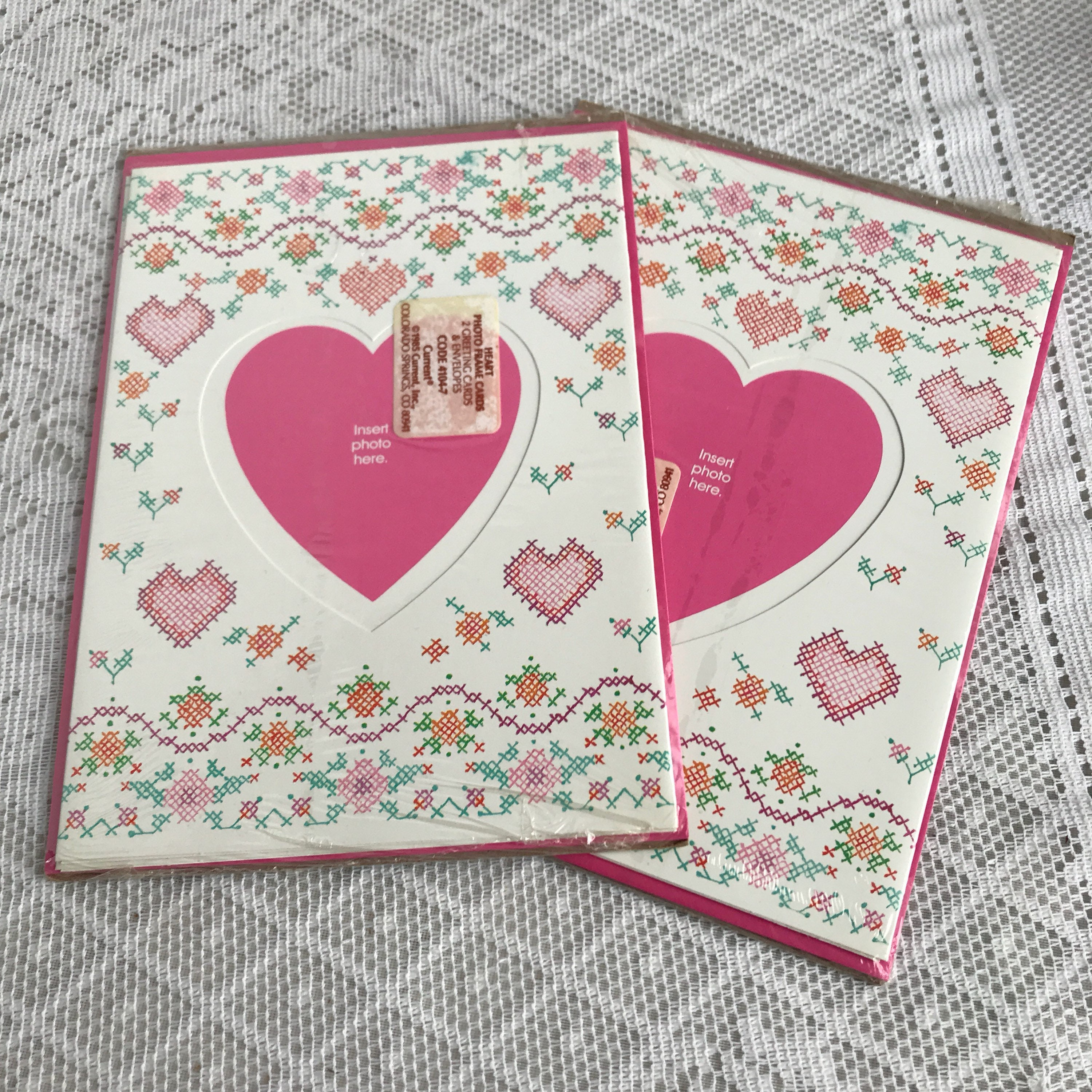 Heart Shaped Photo Frame Cards By Current Pink Hearts Blank Etsy