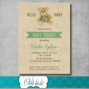 By Charm Craft Vintage Baby Boy Announcement Baby with Teddy Bear /& Toys
