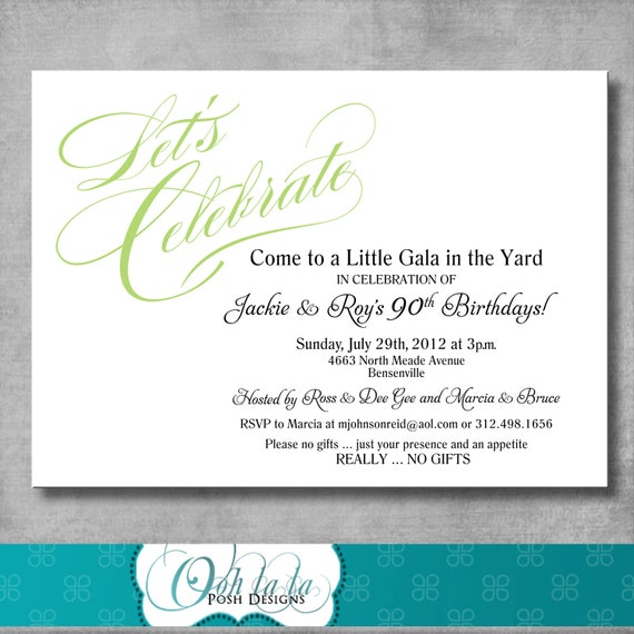 Printable adult birthday invitations