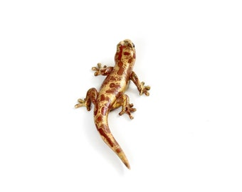 Gecko - size 1, Bronze, mottled brown (mb1)