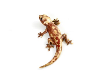 Gecko - size 2, mottled brown - Bronze