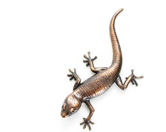 Gecko - size 4, brown - Bronze