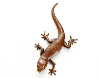 Gecko - size 4, mottled brown - Bronze