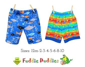 Boys Beach Shorts PDF Sewing Pattern. Toddler Pants Pattern. Instant Download Digital Sewing Pattern. Finley