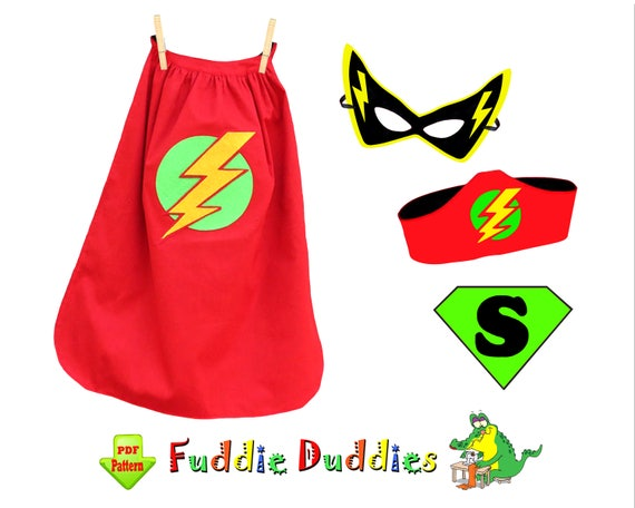 Childrens Sewing Pattern Superhero Cape Pattern Kids Costume
