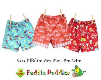 Quick & Easy Baby Boy's Shorts PDF Sewing Pattern. Digital Instant Download pdf Pattern. Dillon