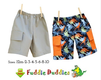 Easy Boys Shorts Pattern with Pockets. pdf INSTANT DOWNLOAD. Boys Summer Sewing Pattern. Toddler Clothing Pattern. Casey