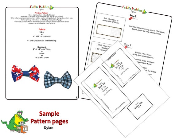 Boys Bow Tie Pattern Necktie Pattern Toddlers Sewing Etsy