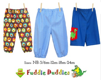 Quick & Easy Baby Boys Pants Sewing Pattern. Pants Pattern with Dino Applique. Infant Pants Sewing Pattern. PDF Digital Download. Sammy
