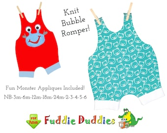 Quick & EASY Bubble Romper Sewing Pattern. Unisex Jersey Knit Romper. Toddler Boys Romper Patterns. PDF Instant Download. Jamie