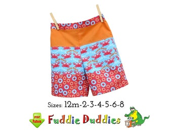 Boys Beach Shorts pdf sewing pattern. Toddler Shorts pattern. Boys Sewing pattern. Boys Pants Instant Download Pattern. Benny