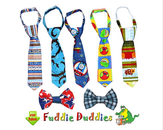 Necktie Sewing Pattern For Boys Bow Tie Pattern For Babies Etsy