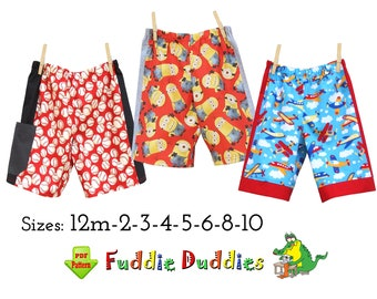 Quick & Easy Boy's pdf Sewing Pattern. Childs Sewing Pattern. Boy's Sports Shorts Pattern. Toddler Shorts Pattern. Instant Download. Daryl