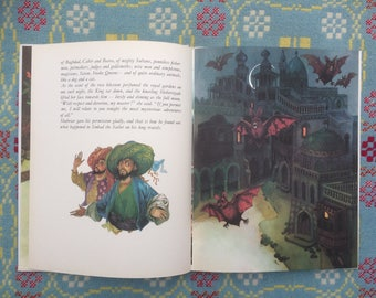 2cb37ea59 Very Rare Beautifully Illustrated Sinbad the Sailor - 1970s Vintage Book  Illustrated by Vladimir Machaj