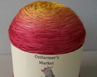Silky Sock - 4ply Fingering Weight BFL/Silk gradient dyed yarn. Colourway - Sunburnt Country