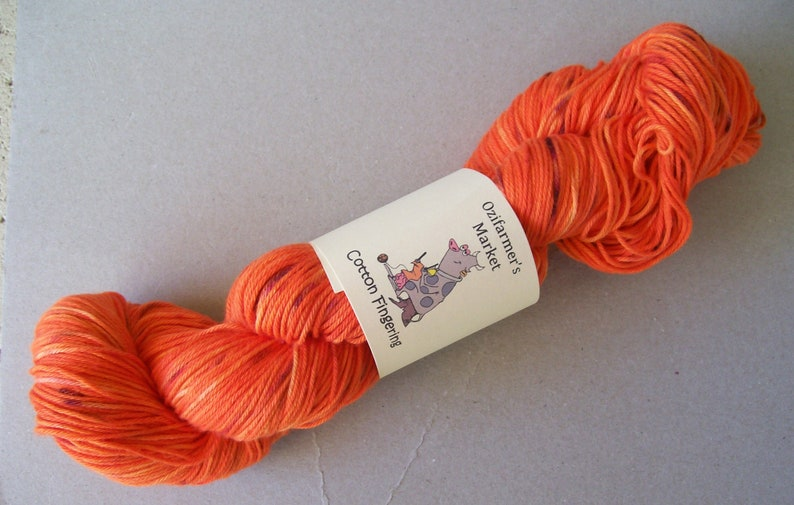 Cotton Fingering 4plyFingering weight cotton Flecked Flame