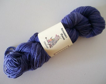 Melody- 8ply/light worsted/DK Machine Washable BFL - Purple People Eater
