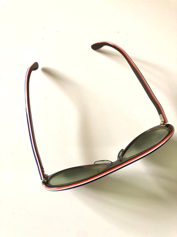 Vintage Made In France Sunglasses 70's Navy MOD R… - image 2