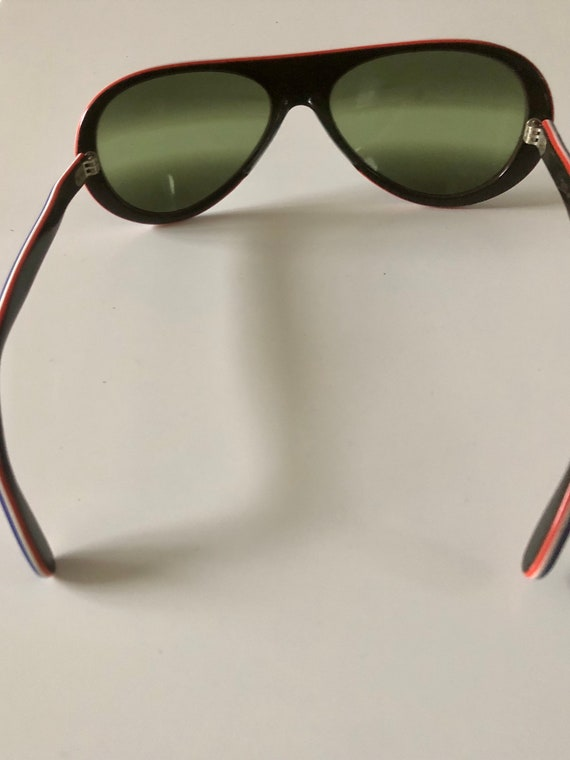 Vintage Made In France Sunglasses 70's Navy MOD R… - image 8