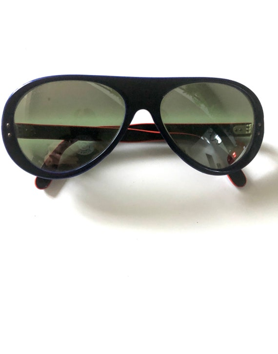 Vintage Made In France Sunglasses 70's Navy MOD R… - image 3