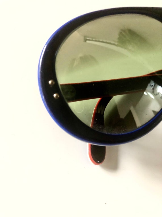 Vintage Made In France Sunglasses 70's Navy MOD R… - image 7
