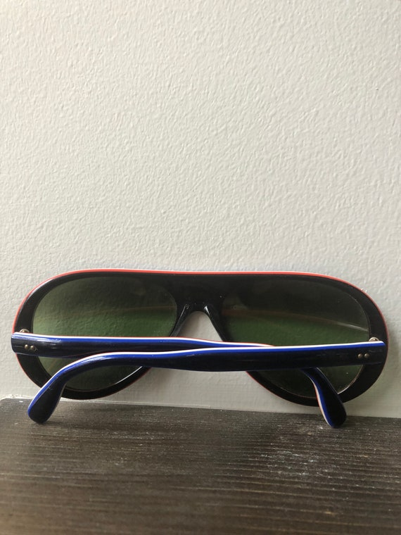 Vintage Made In France Sunglasses 70's Navy MOD R… - image 4
