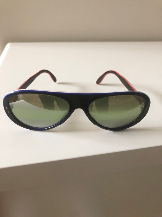 Vintage Made In France Sunglasses 70's Navy MOD R… - image 1