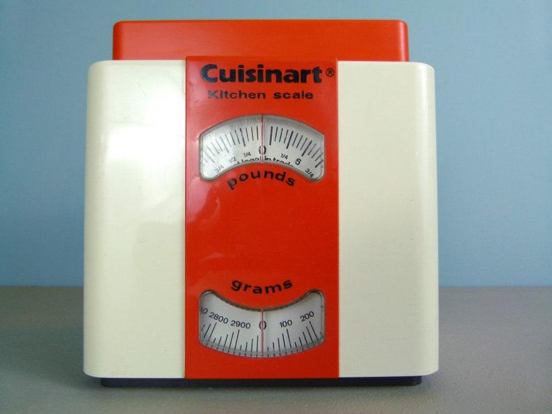 Vintage 1970/'s Orange Plastic Mod Cuisinart Kitchen Scale Made in France