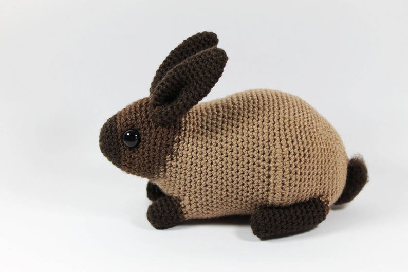 Sable rabbit one-of-a-kind crocheted toy