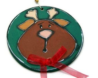 Christmas reindeer ornament - Christmas tree ornament