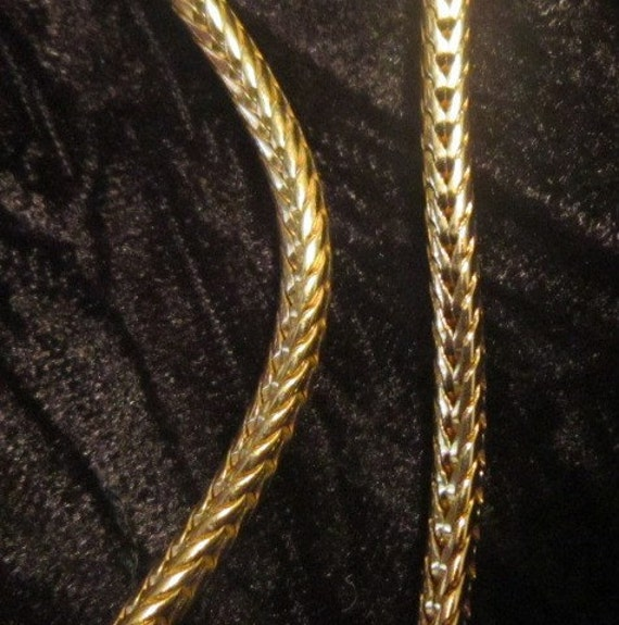 Vintage Gold and Pearl Heart Pendant and Chain - … - image 3
