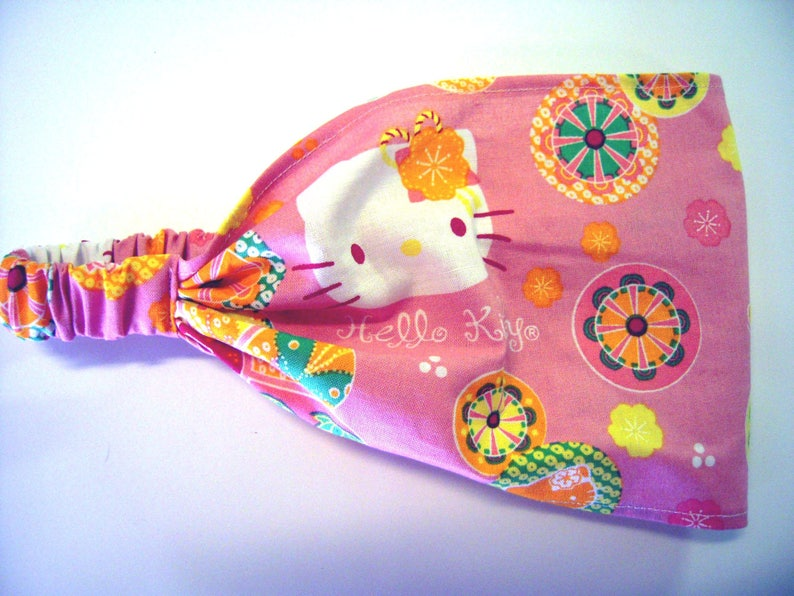 d5d0c2aaf SALePink Hello Kitty Flowers Wide Headband by FreCkLes   Etsy
