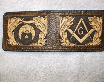 Custom Texas Mason and American Flag Ariat Brown Digital Camo Bi-fold wallet