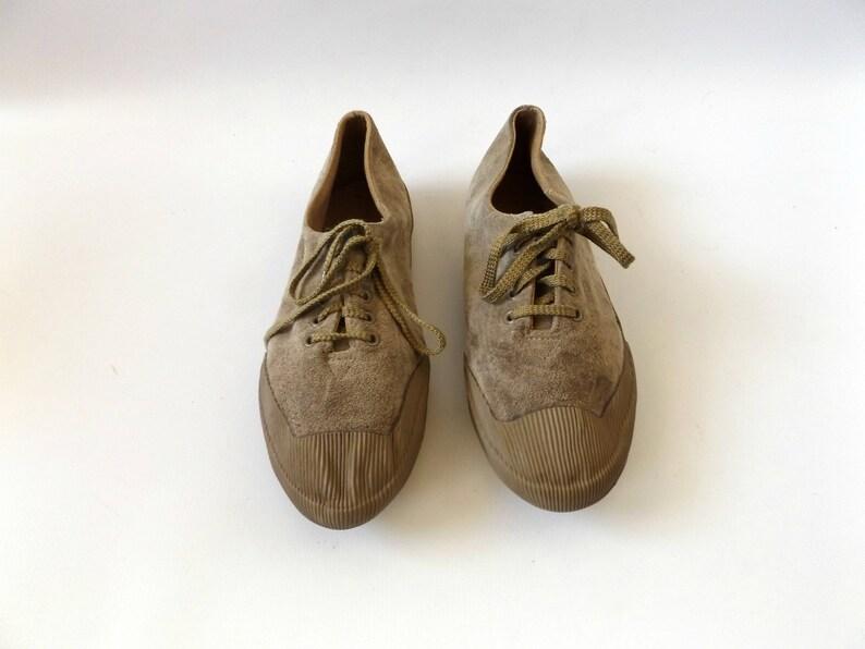 Mastice in camoscio marrone scarpe da tennis vintage anni 80 qZ1SdWA6