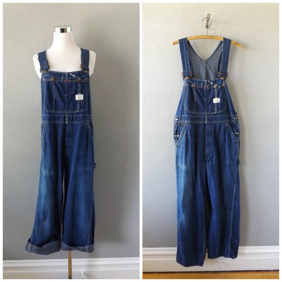 dd97eee30b big mac denim overalls vintage 50s square bak cotton blue