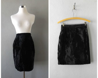 black fur mini skirt   vintage 90s grunge gothic furry dress size s/small club kid cyber punk goth blouse tops minimal 1990s festival rave