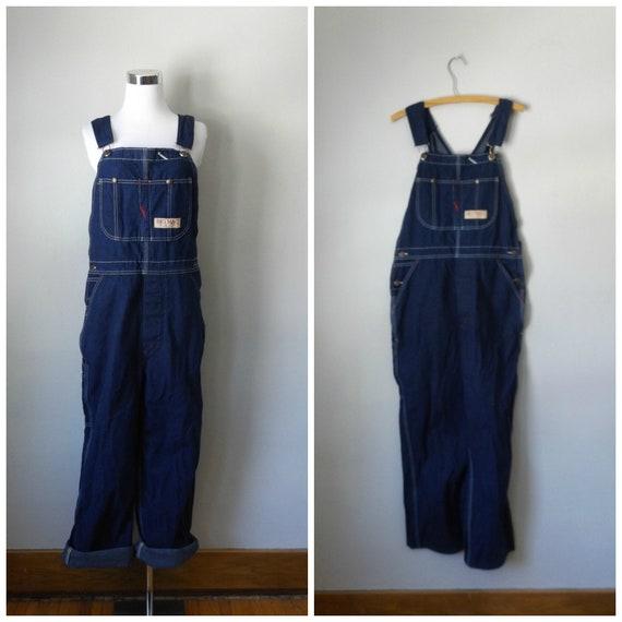 374f3a97197c denim grunge bib overalls vintage 80s big mac dark wash