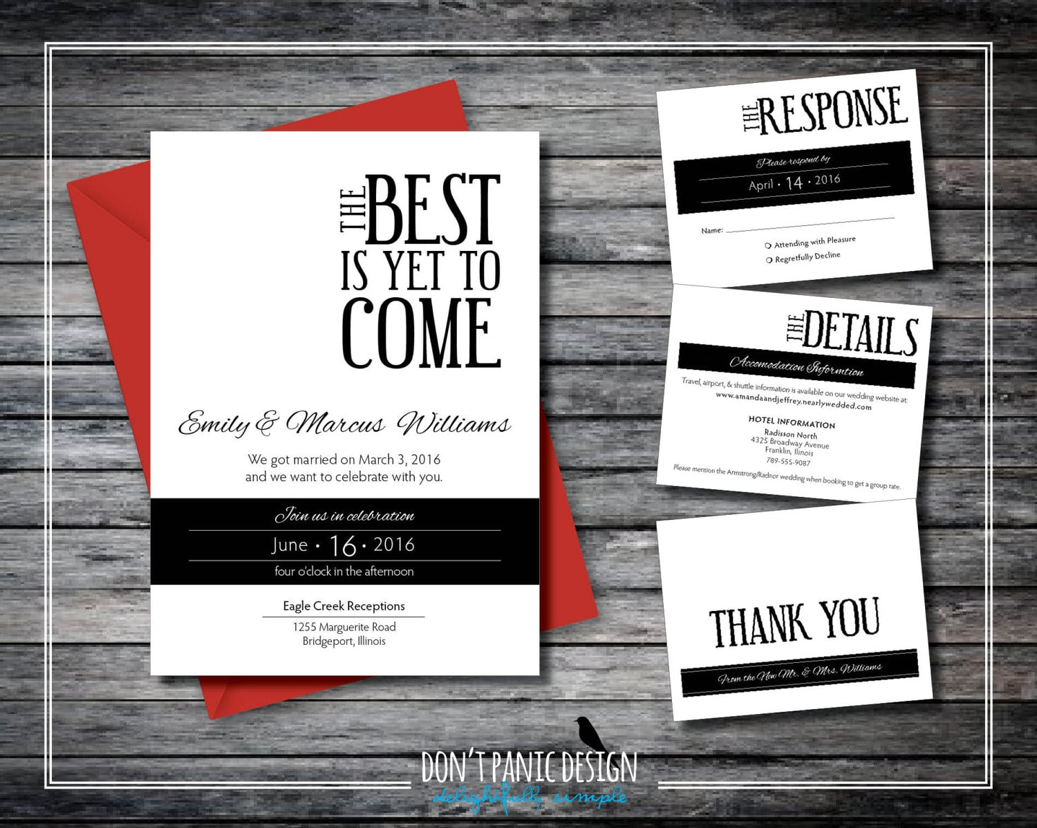 Printable Wedding Announcement Set The Best is Yet to Come | Etsy
