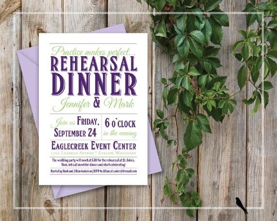 Do Druku Zaproszenia Na Kolację Nowoczesny ślub Próbuje Obiad Etsy