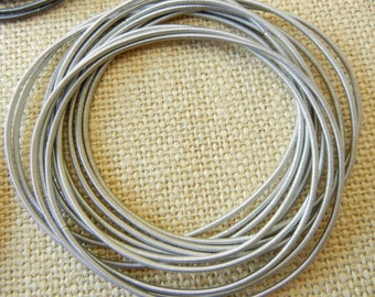 Piano Wire Bracelet Silver