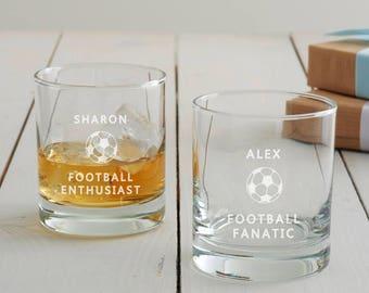7e9931828d28 Personalised Football Tumbler Glass