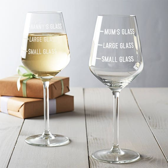 Free Wine Charm 3 Measures Glass Personalised Novelty Wine Glass Friends Glass