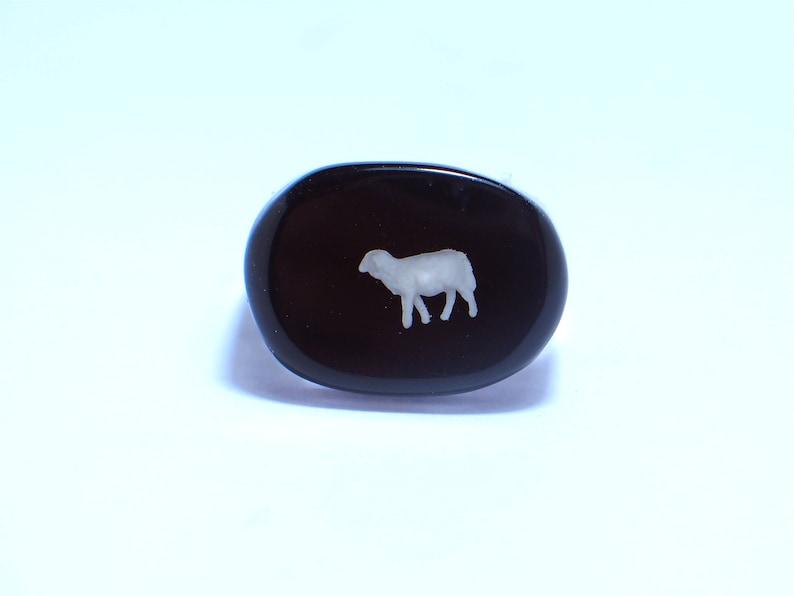 Sheep black Resin rings. Modern jewelry. resin jewelry.  3bb54ef38